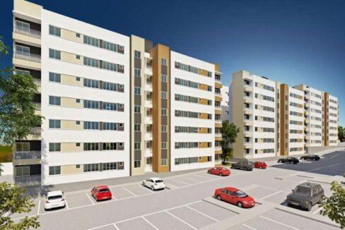 1 Apartamento 60,34m²,3 quartos sendo 1 suíte, zona leste Teresina, próximo Novafapi