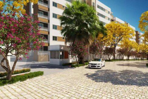 2 Apartamento 60,34m²,3 quartos sendo 1 suíte, zona leste Teresina, próximo Novafapi