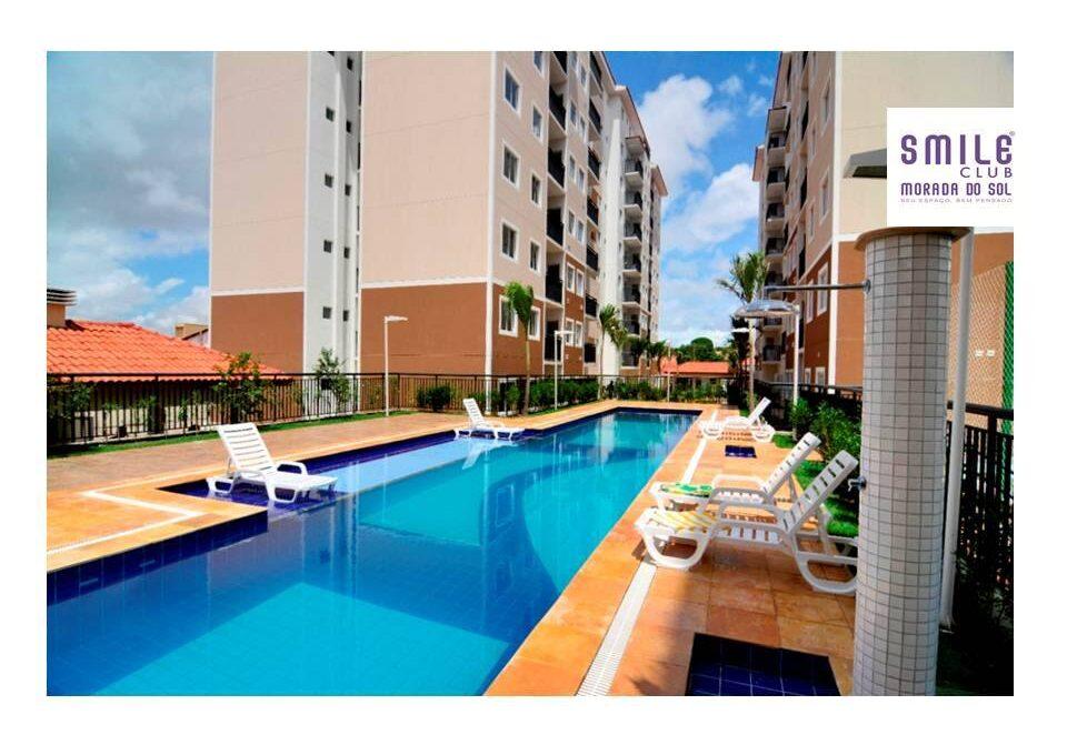 6.3 Smile morada do sol, Apartamento 60m², 2 quartos, zona leste Teresina, elevador, área completa lazer,1 vaga