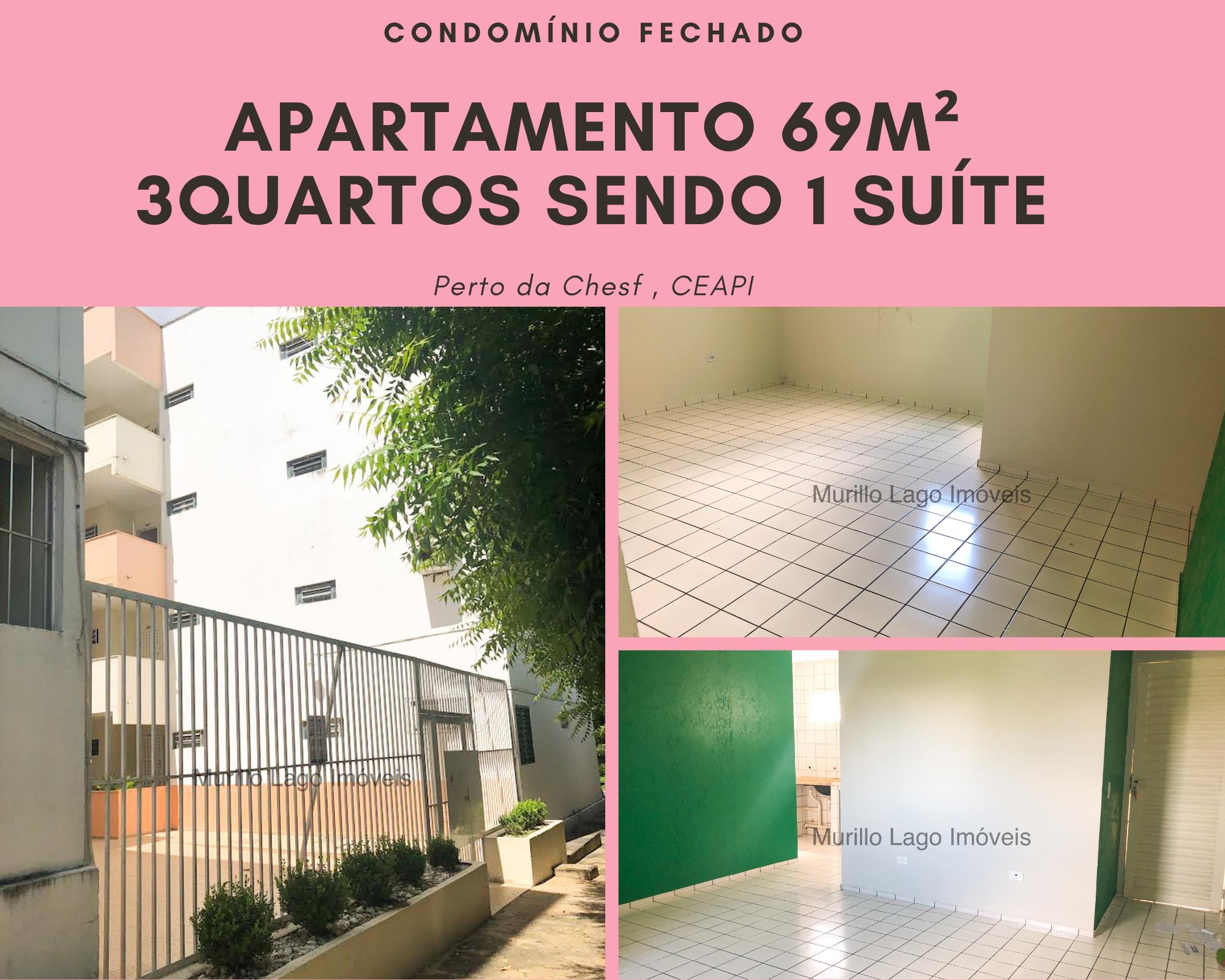 Apartamento para venda Verde te quero verde,3 quartos sendo 1 suíte próximo CHESF, CEAPI, condomínio fechado