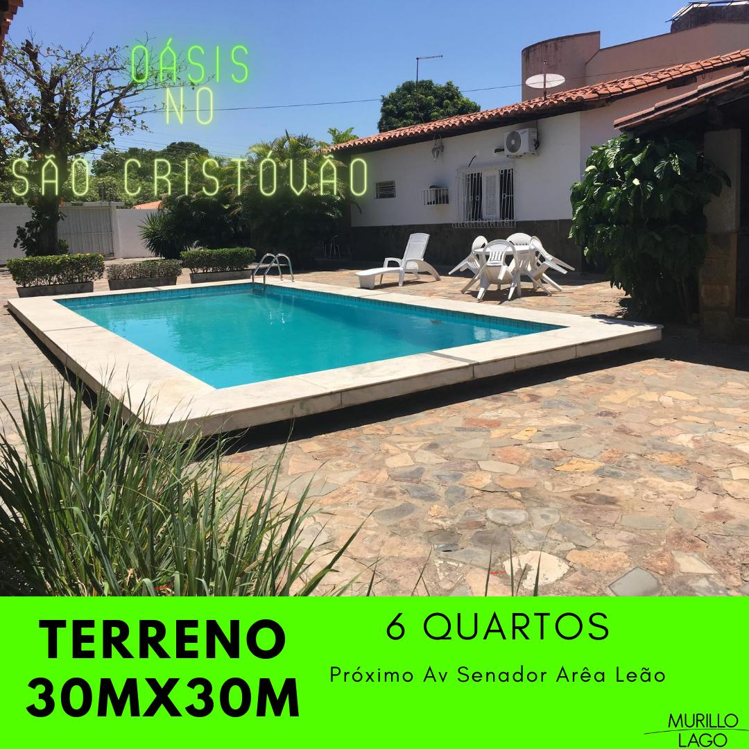 Casa para venda 30m x 30m,bairro São Cristóvão em Teresina, piscina, 6 quartos,10 vagas