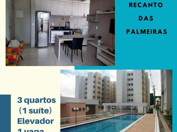 Apartamento à venda no Recanto das Palmeiras, 3 quartos(1 suíte), elevador, Piscina em Teresina- Piauí