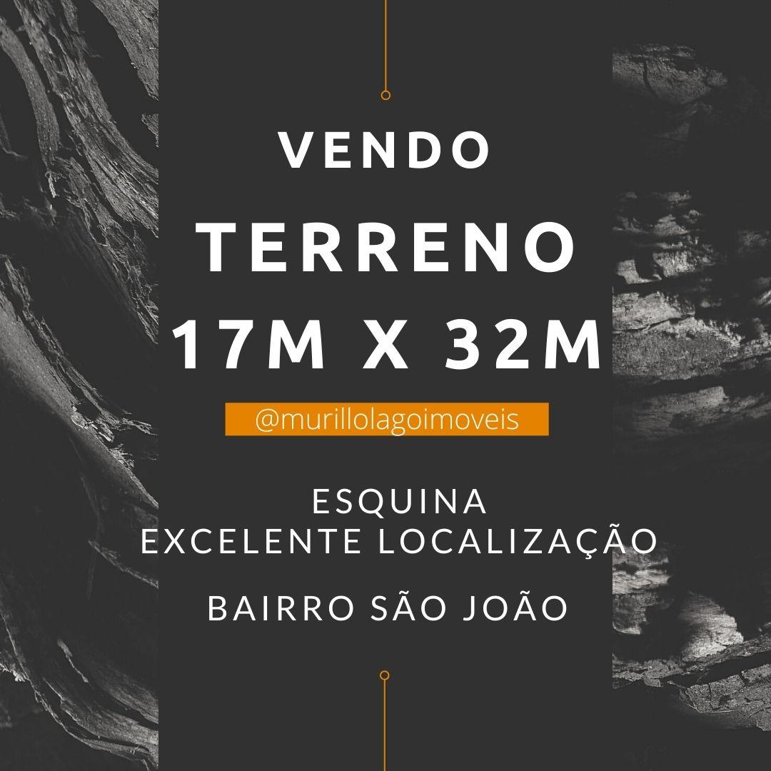 Terreno venda 17m x 32m excelente localização no bairro São João em Teresina