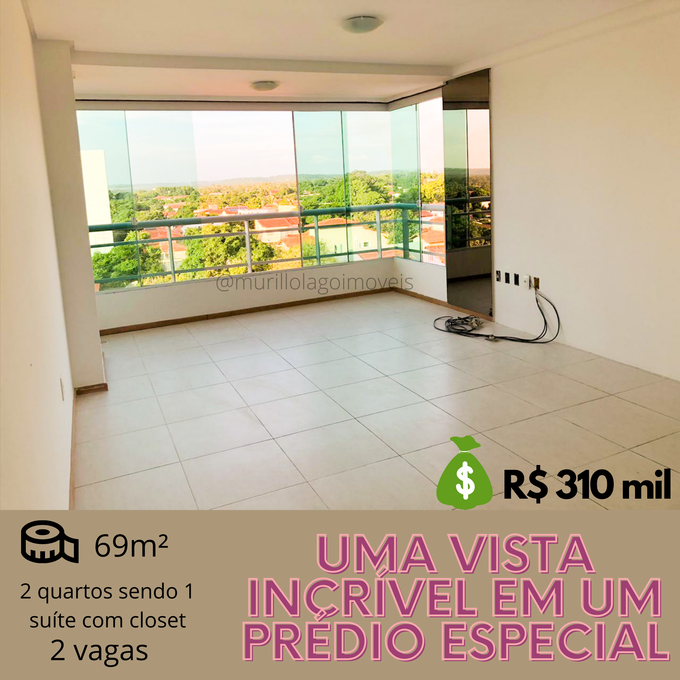 Apartamento à venda Ininga, 2 quartos sendo 1 suíte, elevador, Teresina-Piauí