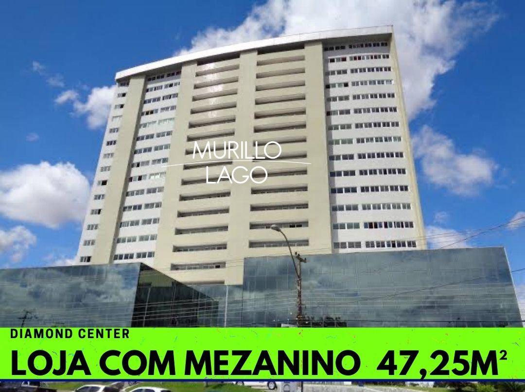 Loja com mezanino 47,25m² no Diamond Center em Teresina-PI