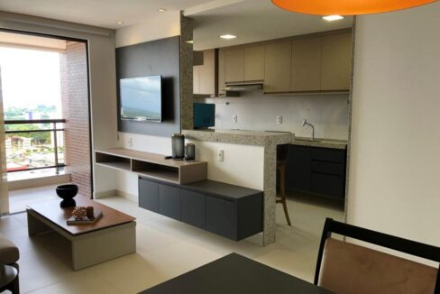 1 Apartamento venda Studio Homero, 59,90m², 1 suíte, varanda, 1 vaga, piscina, Teresina-PI