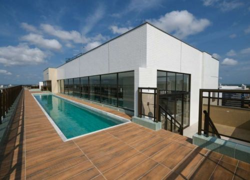 18 Apartamento venda Studio Homero, 59,90m², 1 suíte, varanda, 1 vaga, piscina,Teresina-PI