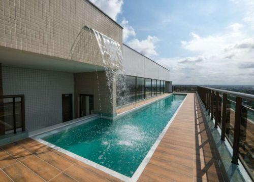 19 Apartamento venda Studio Homero, 59,90m², 1 suíte, varanda, 1 vaga, piscina,Teresina-PI