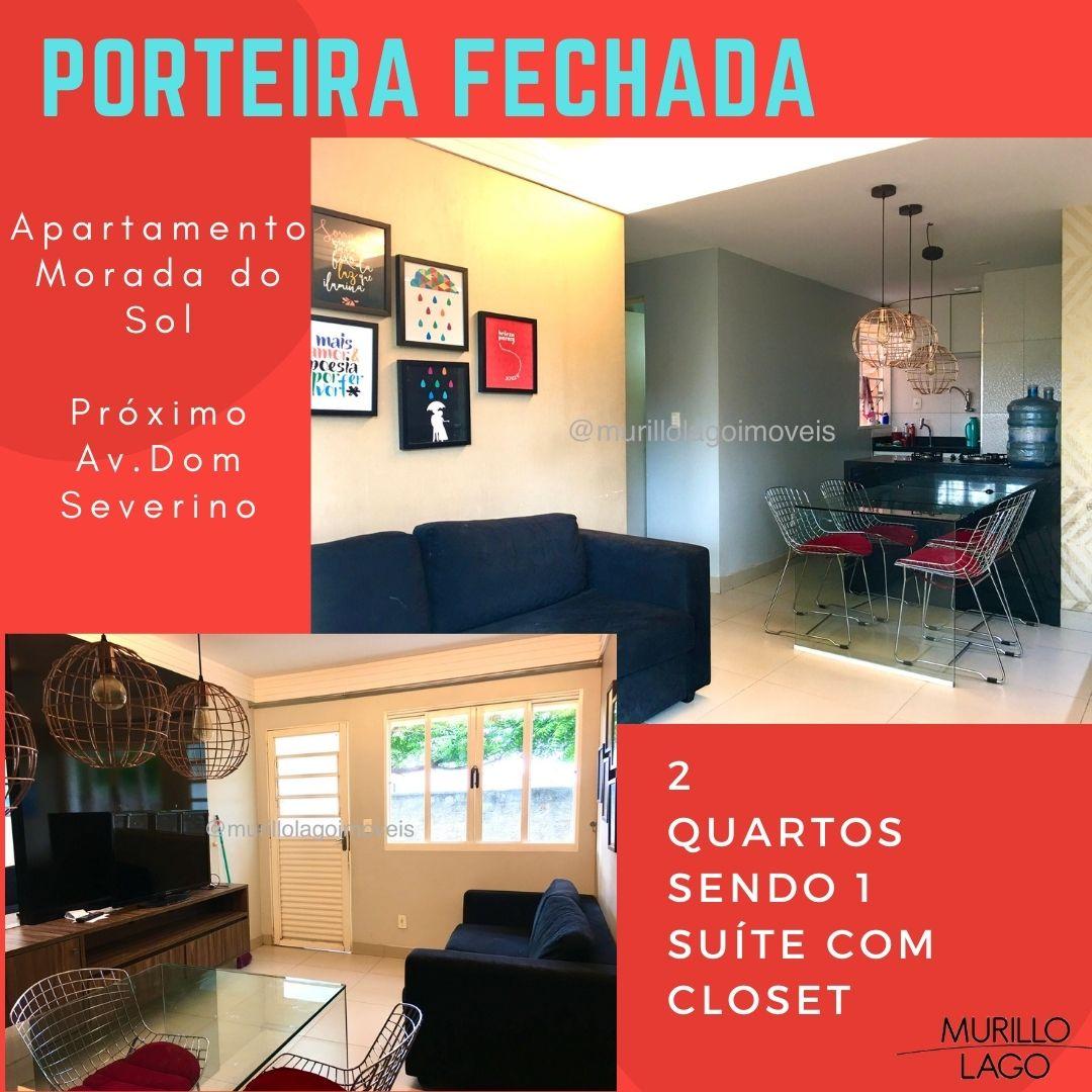 Apartamento venda 2 quartos sendo 1 suíte com closet,porteira fechada no bairro Morada do Sol em Teresina-PI