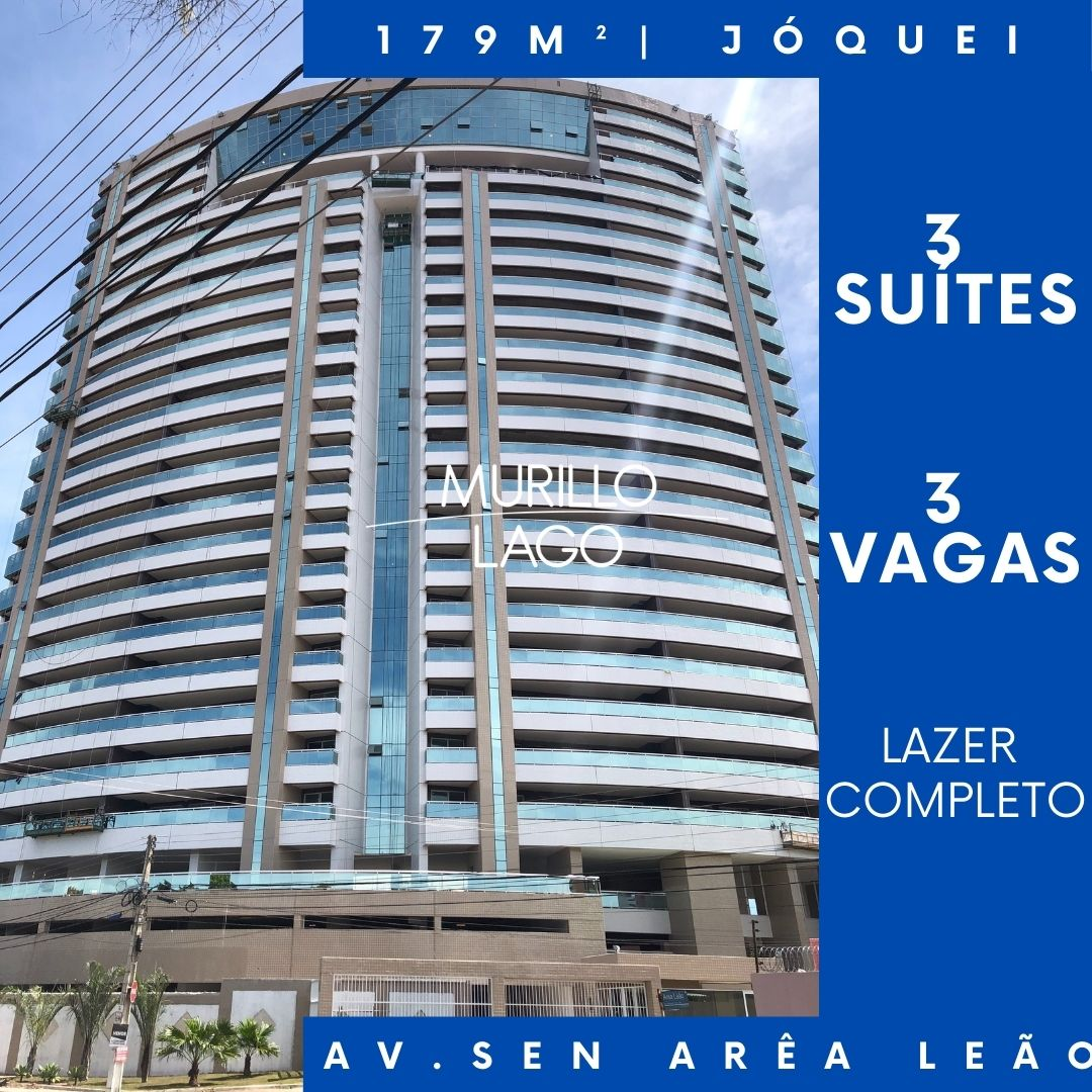 Apartamento de 179,82m² no condomínio Saint Paul, jóquei – Teresina