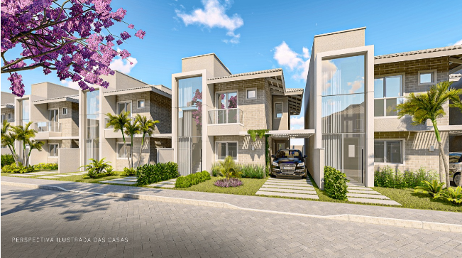 Residencial Burle Marx Jardins do leste condomínio de casas duplex com 4 suítes em Teresina-PI, Murillo Lago Imóveis