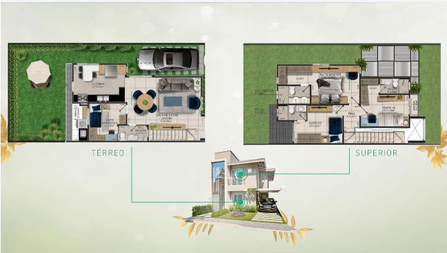 7 Burle Marx condomínio de casas, 4 suítes, bairro Gurupi em Teresina-PI,Murillo Lago Imóveis
