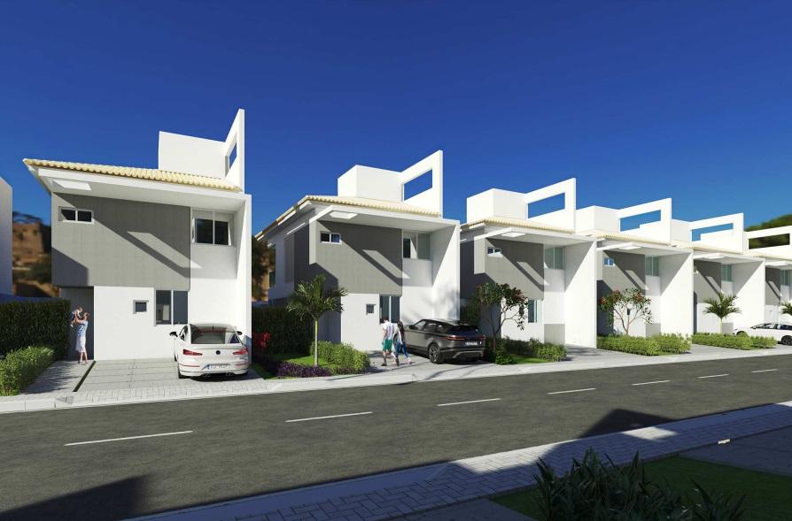 1 condominio-roma-prime-Condomínio fechado de casas Duplex com 96m²com 3 suítes ao lado do Terras Alphaville em Teresina-PI