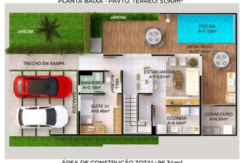 20 condominio-roma-prime-Condomínio fechado de casas Duplex com 96m²com 3 suítes ao lado do Terras Alphaville em Teresina-PI