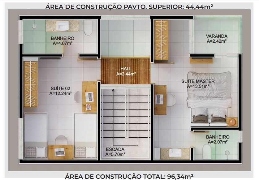 21 condominio-roma-prime-Condomínio fechado de casas Duplex com 96m²com 3 suítes ao lado do Terras Alphaville em Teresina-PI