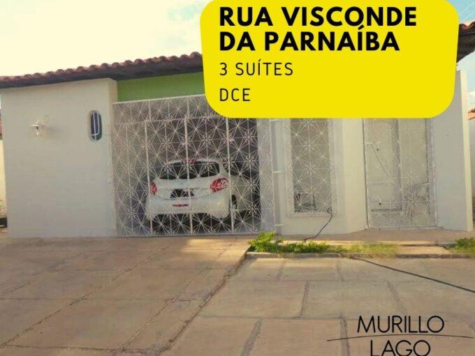 Casa para venda com 3 suítes, DCE na rua Visconde da Parnaíba em Teresina-PI
