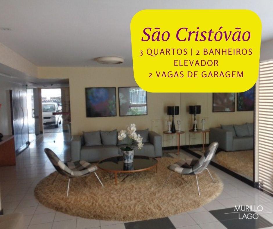 Apartamento para venda com 3 quartos sendo 1 suíte, elevador e 2 vagas no bairro São Cristóvão em Teresina-PI