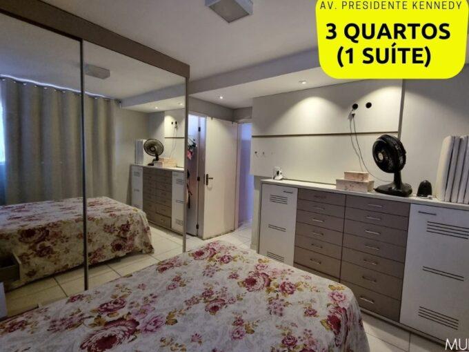 Apartamento mobiliado para venda 74m² com 3 quartos sendo 1 suíte na avenida Presidente Kennedy em Teresina-PI
