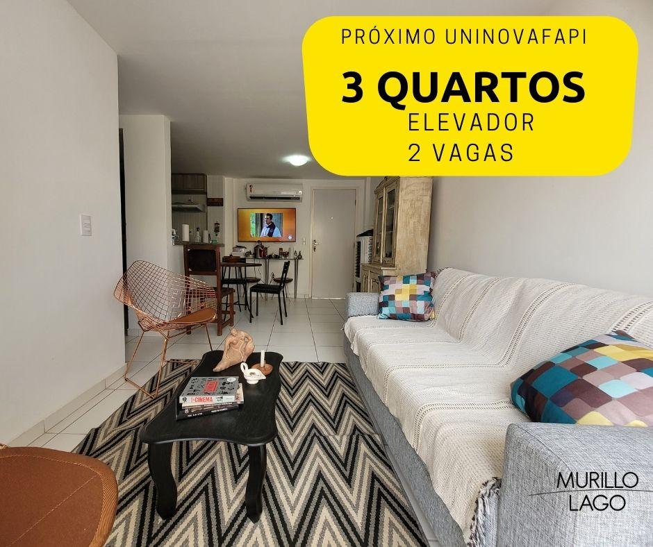 Apartamento para venda com 3 quartos sendo 1 suíte,elevador e 2 vagas de garagem 2 quarteirões da Novafapi em Teresina-PI