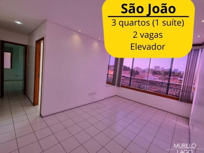 Apartamento para venda com 3 quartos sendo 1 suíte, elevador, 2 vagas no bairro São João em Teresina-PI